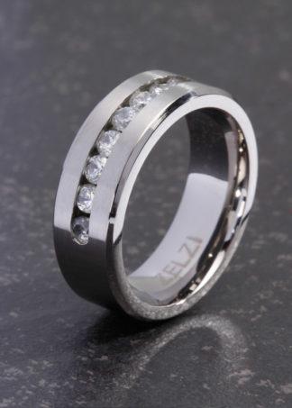 Asteria titanium ring met zirconia